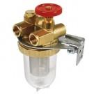 Filtre fioul à robinet d'arrêt OVENTROP diam. 3/8 - INOX